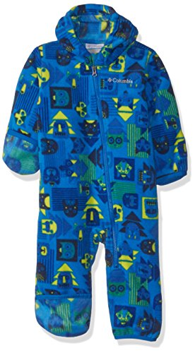 Columbia Unisex Baby Infant Snowtop II Bunting, Super Blue Critters Print, - Bunting Fleece Baby