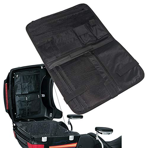 (Saddlebag Nylon Lid Organizer Storage Bag for Harley Davidson Tour-Pak Touring Bagger Electra Glide Hard Bags)