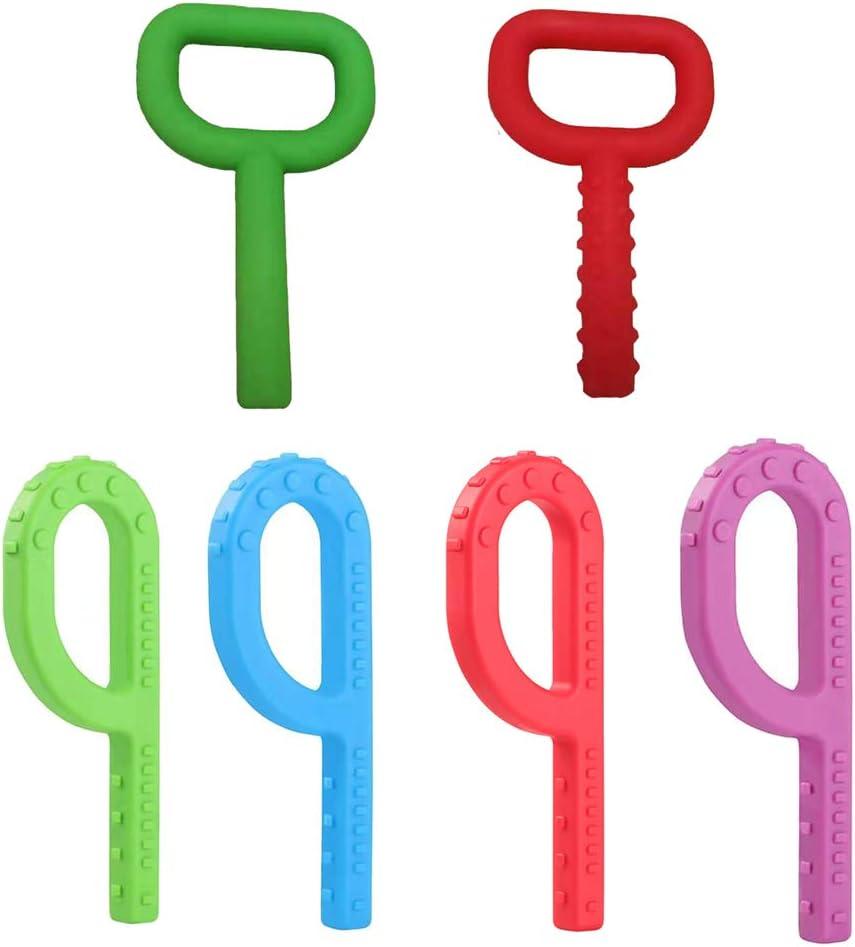 ER NMBGH mordedores de silicona P en forma de ni/ños Grabber dentici/ón juguetes para masticar juguete ni/ños autismo