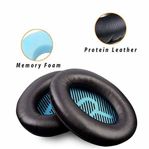 Leather Ear Pad - Replacement Earpads Ear Pad Foam Ear Pad Memory Foam Replacement Ear Cushion For BOSE QuietComfort15 QC2 QC15 QC25 QC35 AE2, AE2i, AE2 wireless, AE2-W headphones. (Style2)