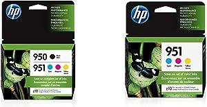 HP 950 & 951 | 4 Ink Cartridges | Black, Cyan, Magenta, Yellow | CN049AN, CN050AN, CN051AN, CN052AN & 951 | 3 Ink Cartridges | Cyan, Magenta, Yellow | CN050AN, CN051AN, CN052AN