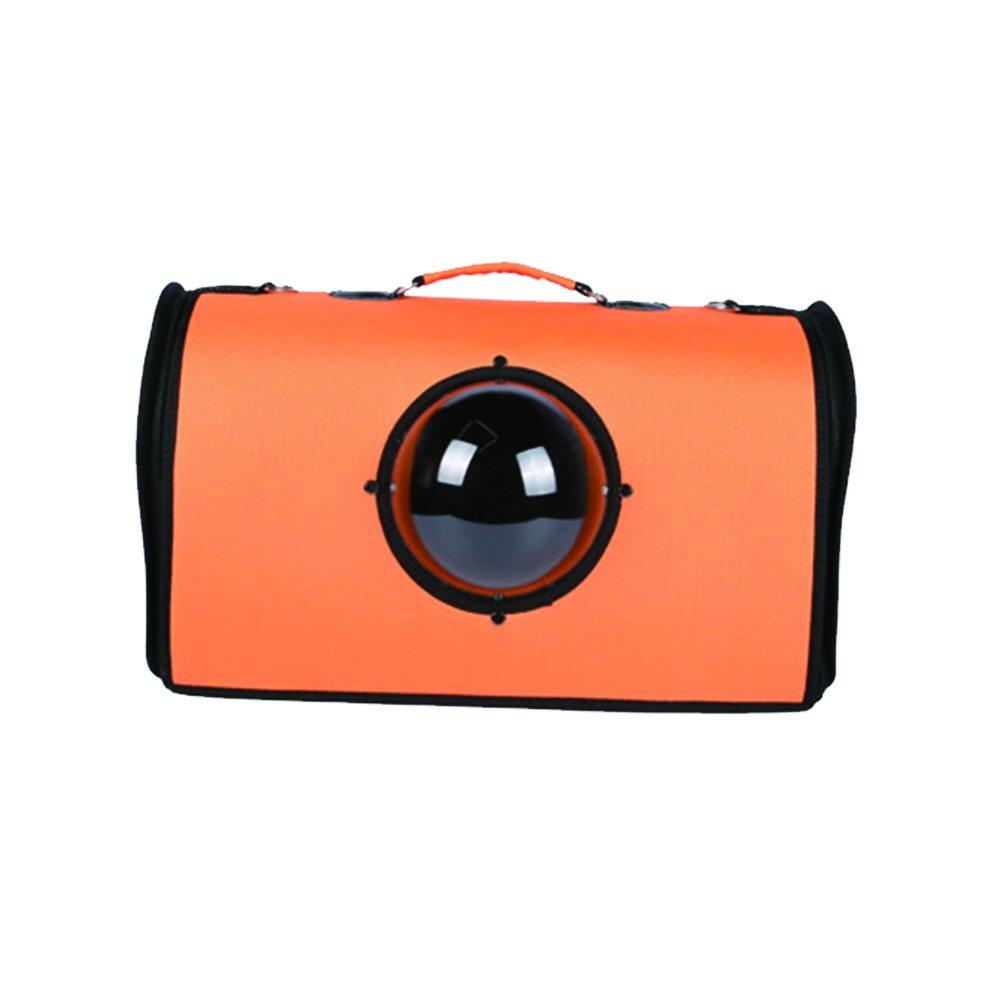 YAOBAO Astronaut Capsule Pet Carrier Portable Pet Bag Breathable Handbag,Orange