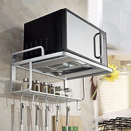 lzzfw Horno microondas Horno de pared Estantes de cocina ...