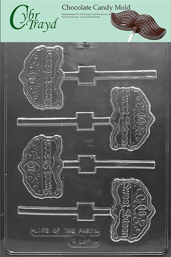 Cybrtrayd L045 Sweet 16 on Tiara Lolly Chocolate Candy Mold with Exclusive Cybrtrayd Copyrighted Chocolate Molding Instructions