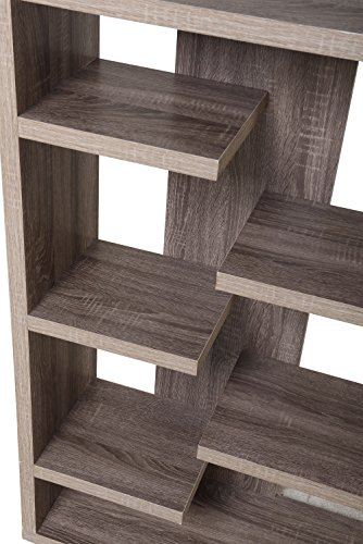 Homestar 6-Shelf Storage Bookcase in Reclaimed Wood by Home Star (Image #4)