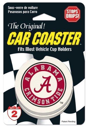 NCAA Car Coaster (Set of 2) NCAA Team: Alabama Crimson (Alabama Crimson Tide Coaster)
