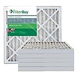 FilterBuy 20x20x2 MERV 13 Pleated AC Furnace Air Filter, (Pack of 6 Filters), 20x20x2 – Platinum