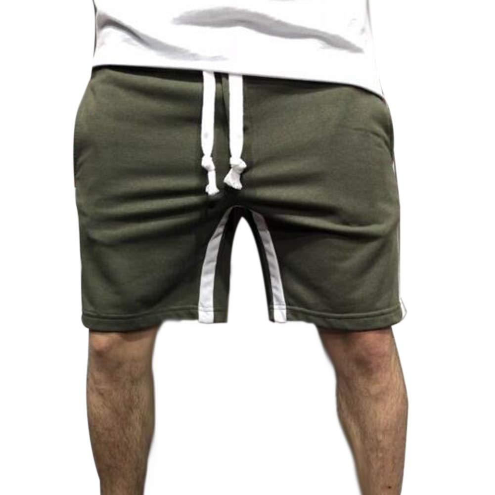 yuguEnviprot Mens Swimming Trunks,Summer Color Block Sports Men Shorts Track Fifth Pants Jogging Swimming Trunks