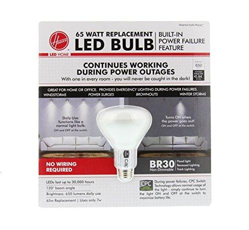 Hoover CPC BR30 65 Watt Replacement LED Power Failure Lightbulb