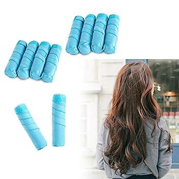 8 Pack Sleep Hair Rollers- Absorbent Sleep Hair Rollers Style Curling Apparatus,curling Drum,dry Hair Curler ,6 Inch Absorbent Heat Free Sleep Nighttime Styler Curlers 1