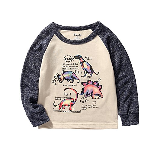 Frogwill Toddler Boys Dinosaur Long Sleeve T Shirts Top Tee Size 3t]()