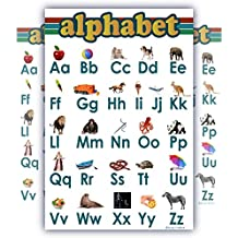 ABC alphabet Chart for teaching Clear white LAMINATED child bedroom poster great quality edu (16x24)