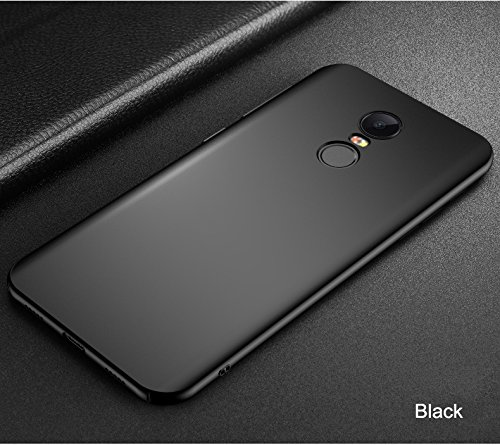 finest selection 0b27a ee6d0 Redmi Note 5 Cover Amozo - Slim Matte Hard Back Case Cover for Redmi Note 5  (Matte Black)