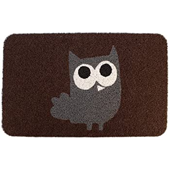 Amazon Com Kikkerland Dm24 Owl Doormat 30 Inch By 18