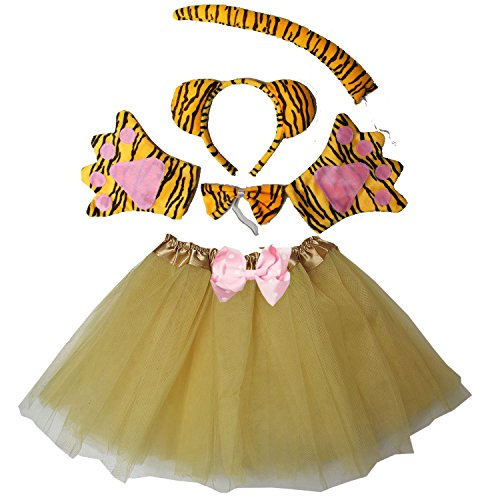 Kirei Sui Kids Costume Tutu Set Tiger]()