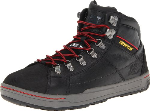 Caterpillar Men's Wide Brode Hi Steel Toe Work Boot,Black,8 W US (Cat Safety Boots)