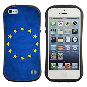 Fuerte Suave TPU GEL Caso Carcasa de Protección Funda para Apple Iphone 5 / 5S / Business Style National Flag Nation Country European Union