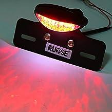 Rupse Cateye Lens 12V LED Motorcycle Brake Tail Light Lamp License Plate Light for Harley, Honda, Yamaha, Suzuki, Kawasaki, Custom Bike, Cruiser, Choppers, Scooters, Vespa, Moped