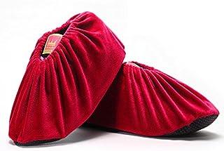 OMIGAI 1Paires Housse de Chaussures en Velours, Respirant antidérapant Ménage Réutilisez Lavable Chiffon Chaussures couvertures, Tissu, Bleu, Taille Normale