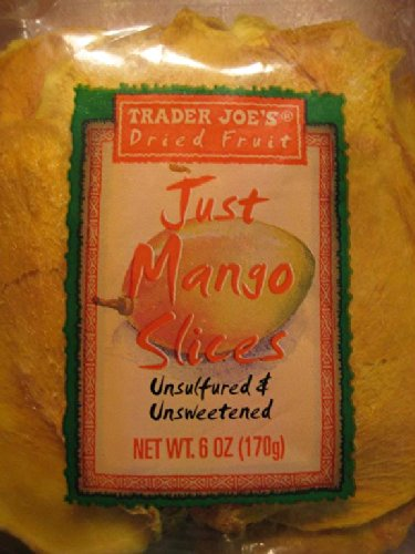 9x 6oz TRADER JOE'S Dried Fruit JUST MANGO SLICES, Unsulfured and Unsweetened