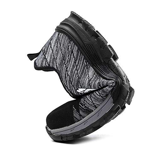 De Confortable … Chnhira Chaussures Gris Protection Léger Respirante Homme Unisexes Embout Sécurité Acier A Travail nmN0vOy8w