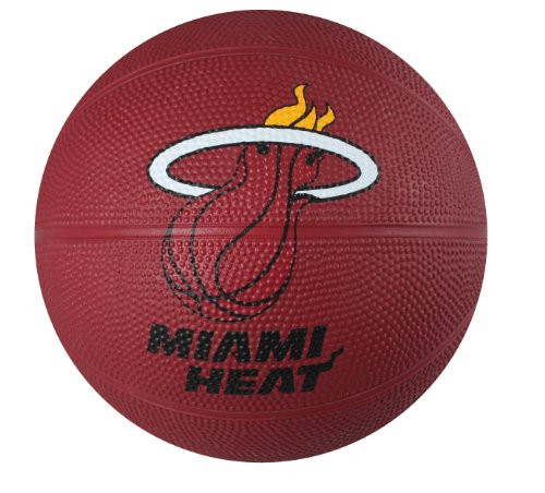 Spalding NBA Miami Heat Mini Rubber Basketball