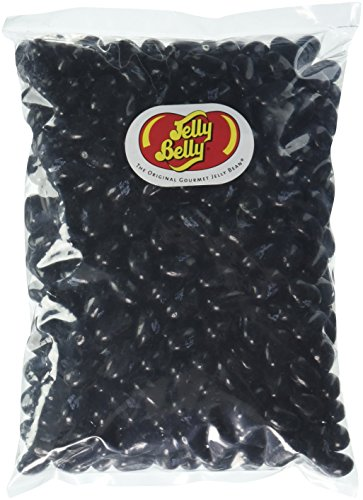 Jelly Belly Black Jelly Beans, Licorice, 1 Pound