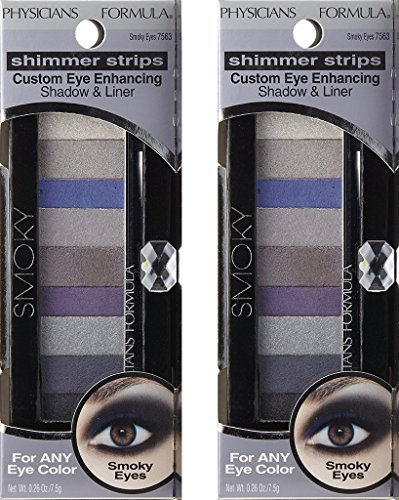 Physicians Formula Shimmer Strips Custom Eye Enhancing Shadow & Liner, Universal Looks Collection, Smoky, 0.26 Ounce