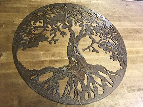 Rustic Patina Tree of Life Steel Home Decor wall art Patina Patina 30 Trees