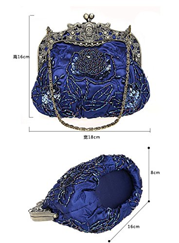Vintage Picture3 Diamond Bride Bag Evening Bag Hand Beaded Clutch Bag Bag NEW Sequined As Embroidered Uxw1dawq