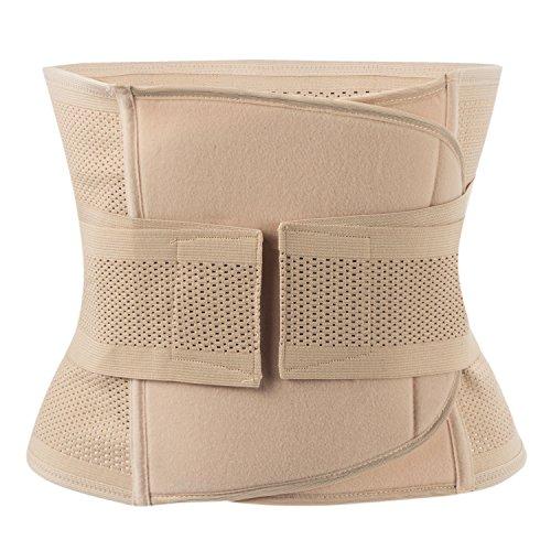SLTY Waist Trainer Back Support Tummy Control Belt Women's Postpartum Recoery Weight Loss Girdle Fat Burner Shapewear Stripe Double Wrap Belts