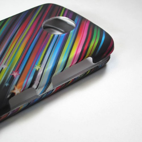 Whole Wireless Name Brand Rubberized Hard Phone Case for for Pantech Marauder R910l 4g Lte Verizon Shooting Falling Rainbow Stars