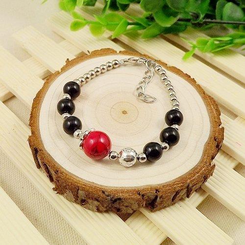 (Features national wind retro original handmade Tibetan silver jewelry wholesale stall cat eye agate pearl bracelet bracelets)
