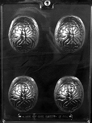 Grandmama's Goodies M197 Brain Halloween Chocolate Candy Soap Mold with Exclusive Molding Instructions -