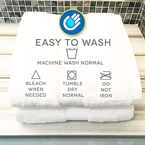 LionFinch Premium Bamboo Cotton Towels- Set of 4. Super Soft Absorbent Plus Mold Mildew Resistant. 54 inches Long 27 inches Wide. Easy to Wash Dry. by LionFinch (Image #3)