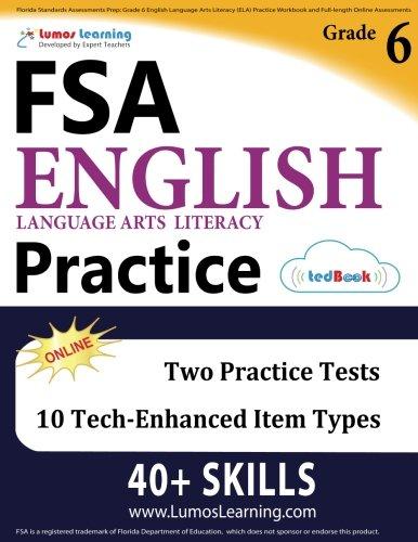 Florida Standards Assessments Prep: Grade 6 English Language Arts ...