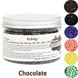 Facial Hair Removal Tips At Home - Hard Hair Removal Wax Beans 5.3OZ Body Face Wax Beads Painless Certified Wax Kit Accessory Scented Depilatory Brazilian Wax Warmer with 10 Wax Applicator Sticks, Chocolate