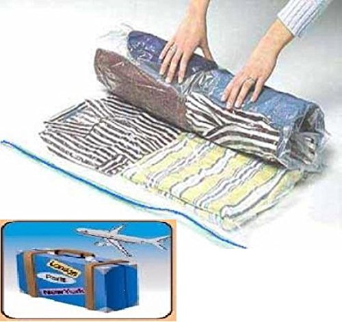 8 PACK Space Saver Travel Compress Roll-Up Storage Bags 60cm x 40cm (Air Compressed Package compare prices)