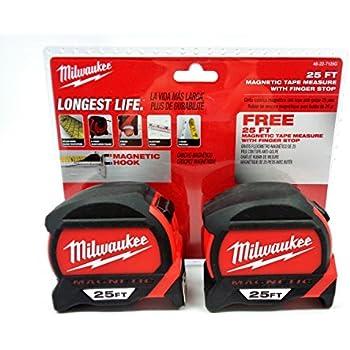 Milwaukee 48-22-7125G-2 - 25 ft. Premium Magnetic Tape Measure (2-Pack)