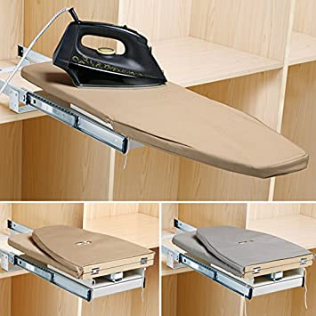 Closet Pull Out Retractable Ironing Board Stow Away In The Cabinet Easy To  Install (