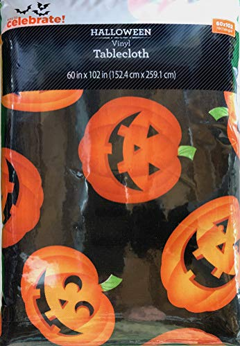 Vinyl Tablecloth 60x102 Halloween Mass Jacks Theme