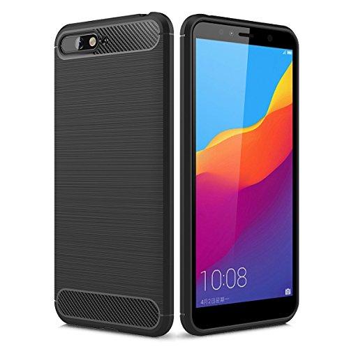 Yoodi Funda Huawei Y6 2018, Carcasa Negocio de Delgada Premium TPU Funda Fibra de Carbono Choque Absorción y Anti-Arañazos...
