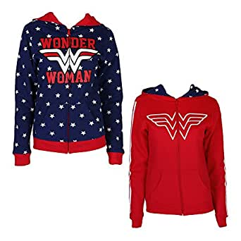 Wonder Woman Reversible Juniors Zip Up Hoody