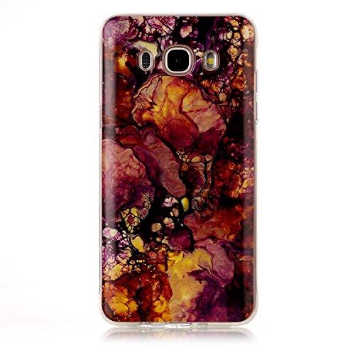 JIALUN-Personality teléfono shell Para Samsung Galaxy J710 J7 2016 IMD híbrido brillante TPU cubierta de la caja protectora de silicona suave de silicona para Samsung Galaxy J710 J7 2016 Seguridad y M 10