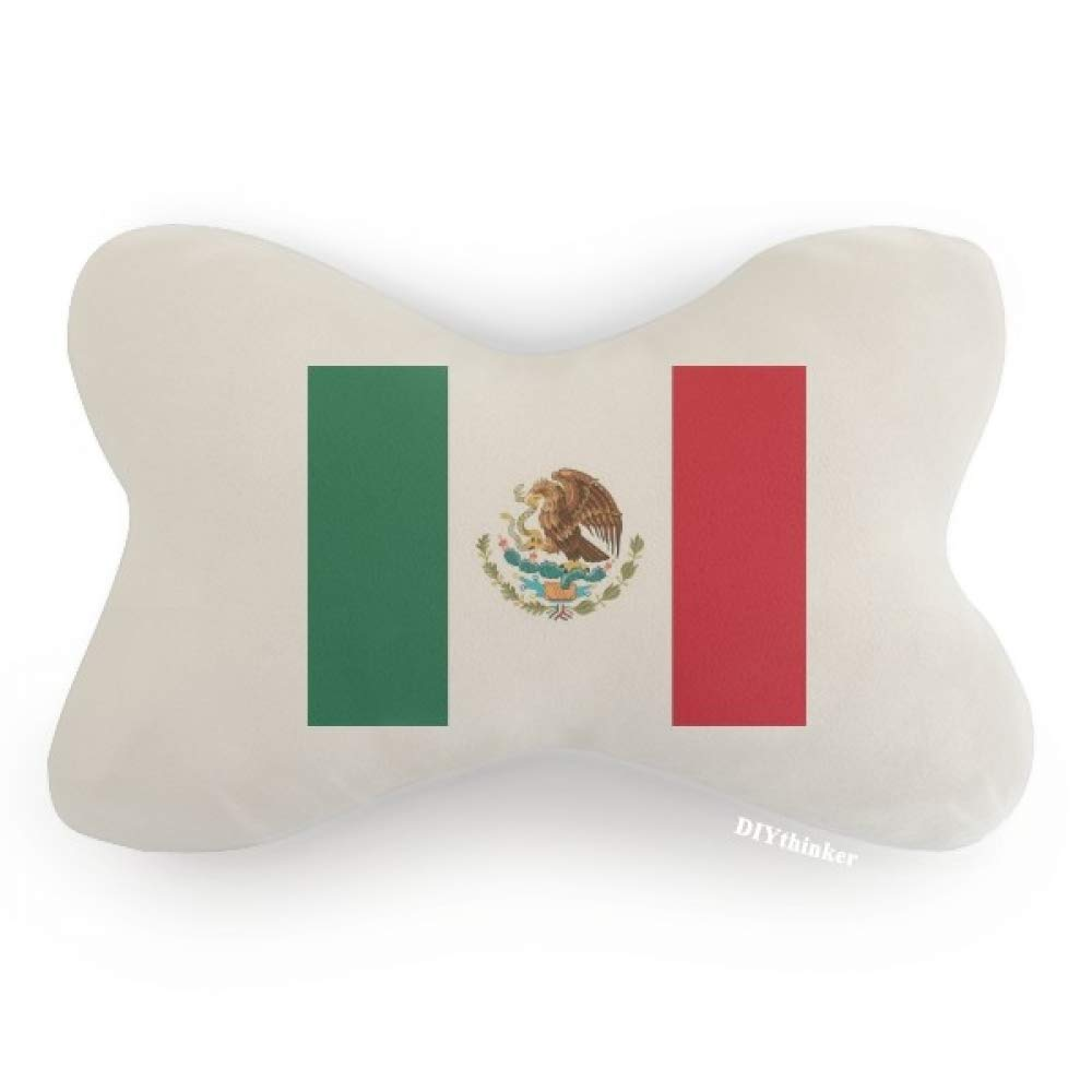 DIYthinker Mexico National Flag North America Country Car Neck Pillow Headrest Support Cushion Pad by DIYthinker (Image #1)