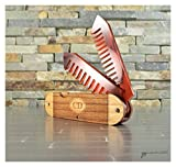 Wooden Pocket Knife Beard Comb