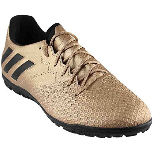 adidas Men's Messi 16.3 Turf Soccer Shoe, Copper Metallic/Black/Solar Green, (8.5 M US)