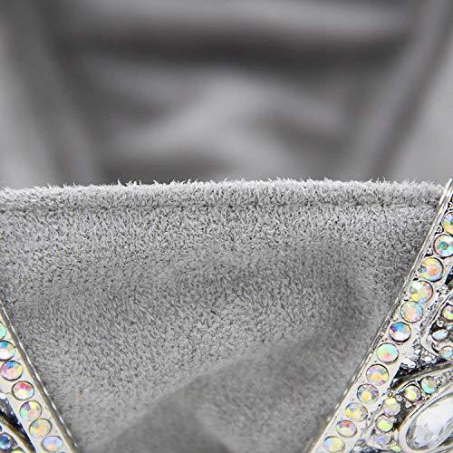 Hibou Bourse D'embrayage Sac Pochettes Mariage Soirée Cristal Cartoon Bleu Main Pour De À Dumulan Poche Femmes Dames Diamant Argenté WanagqI47