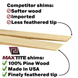 MaxTite Pine Wood Shims, Professional Contractor