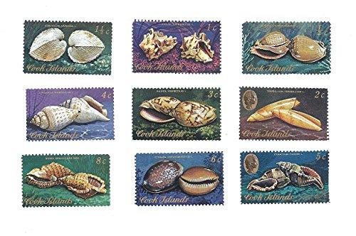 1974 Cook Islands Postage Stamp Set #2 MNH 9 Postage Stamps 1/2c,1c,1 1/2c (Cook Islands Stamps)